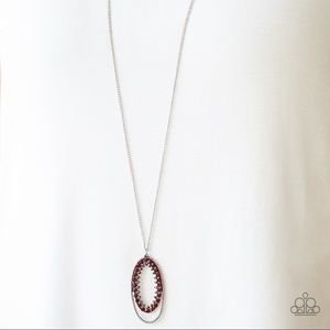 Paparazzi Money Mood Red Necklace/Earrings